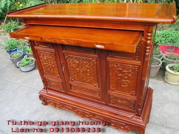 Tu tho go giang huong, Bàn thờ và tủ thờ gỗ giáng hương