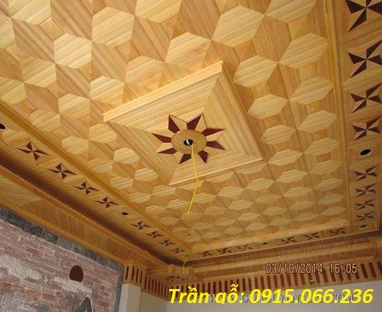mẫu trần gỗ tự nhiên đẹp