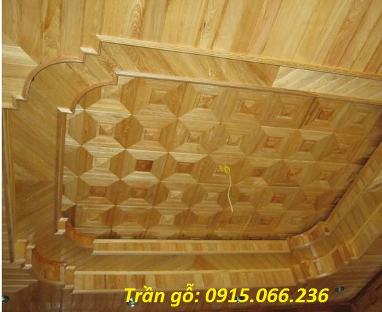 trần gỗ phòng khách, Trần gỗ