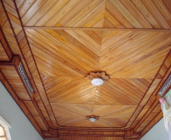 trần gỗ sồi sơn