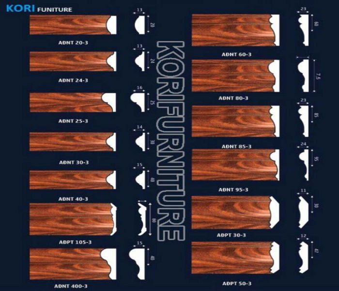 Các mẫu chỉ tường nhựa giả gỗ