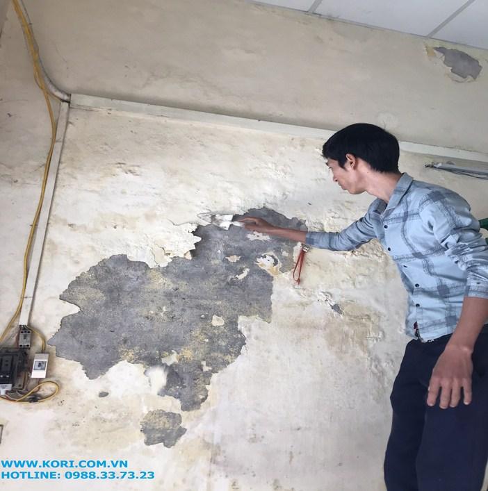tường nhà bị bong dộp