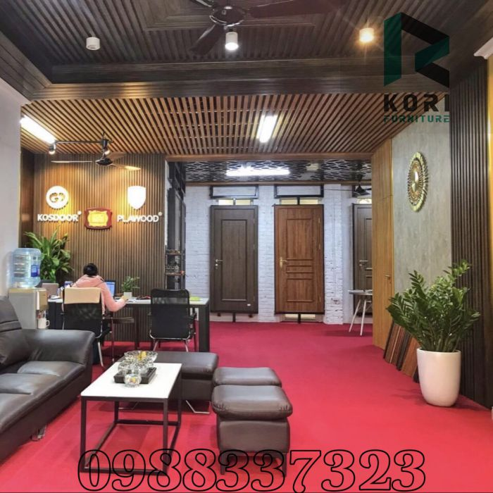 Ốp tường gỗ tại Hà Nội làm văn phòng