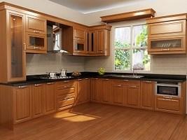 sàn gỗ phòng bếp, san go cho phong bep, có nên lát sàn gỗ không,