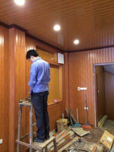 Ốp tường nhà ốp trần trang trí giá rẻ, Ốp gỗ công nghiệp giá rẻ