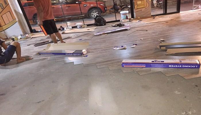 Thi công lắp đặt sàn nhựa composite, sàn nhựa composite giả gỗ là gì,