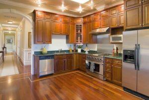 sàn gỗ phong bếp, ván sàn công nghiệp cho phòng bếp,