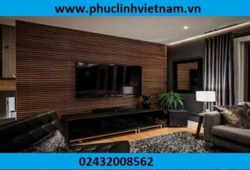 Không gian sống thêm ấn tượng và hiện đại với gỗ ốp tường