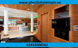 ốp tường gỗ chống nóng, ốp gỗ tường chống ẩm, ốp gỗ phòng khách
