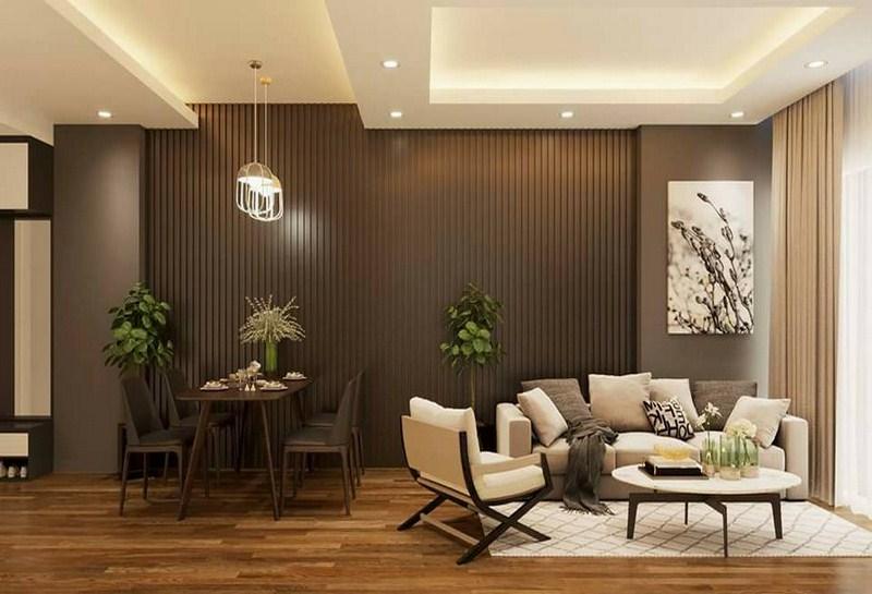 tư vấn chọn ốp tường nhựa cho phòng khách