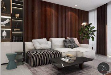 Ốp tường nhựa phòng khách- Báo giá thi công hoàn thiện