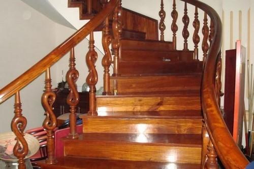 lựa chọn gỗ ốp cầu thang, hướng dẫn cách thi công cầu thang gỗ công nghiệp
