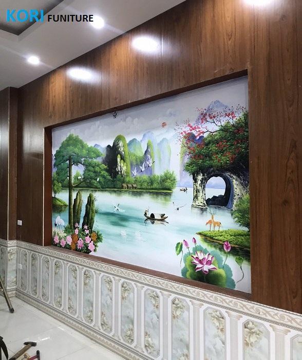 mẫu ốp tường gỗ công nghiệp đẹp, báo giá thi công ốp tường gỗ, ốp tường gỗ phòng khách,