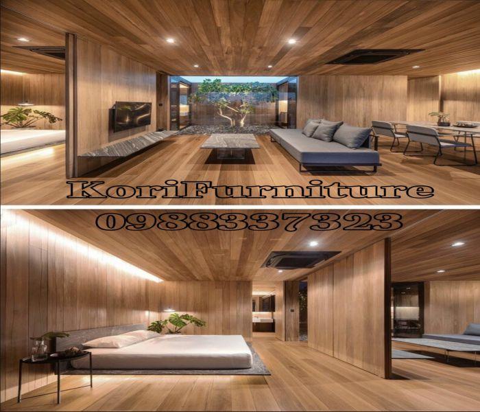 Vật liệu trang trí nội thất ốp tường gỗ