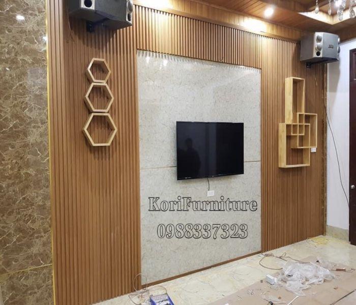 Vật liệu trang trí nội thất ốp tường Tivi
