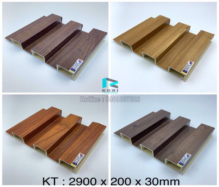 Lam sóng gỗ nhựa 3 nan sóng
