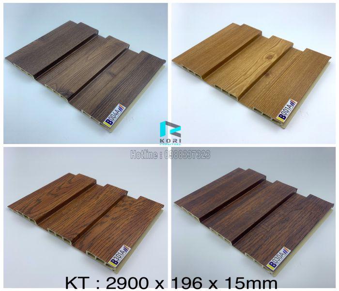 Lam sóng gỗ nhựa 3 sóng thấp
