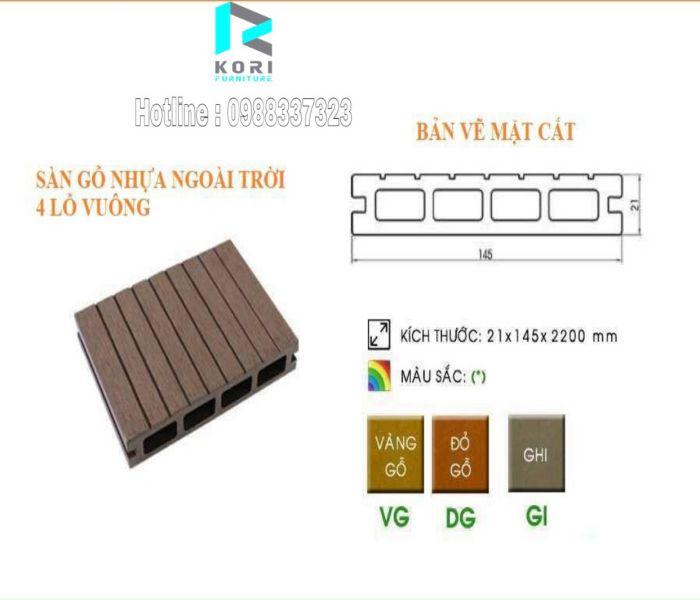 sàn gỗ ngoài trời nhựa composite