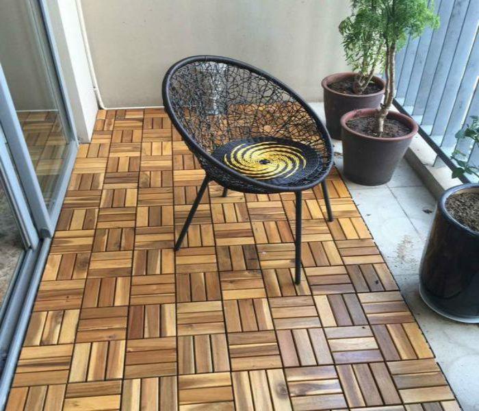 Sàn gỗ ngoài trời tự nhiên
