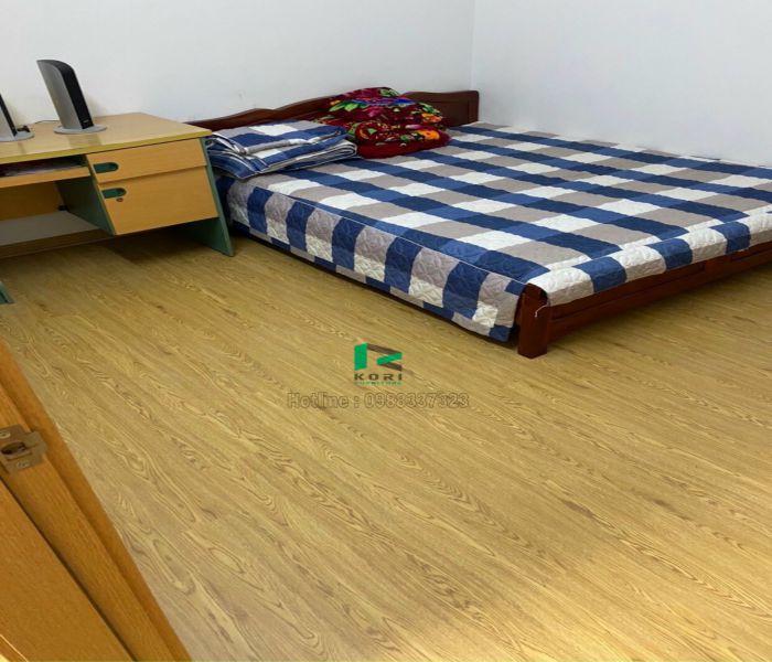 Sàn nhựa giả gỗ phòng ngủ